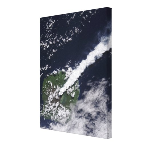 Satellite view of a thick, steam-rich plume canvas print