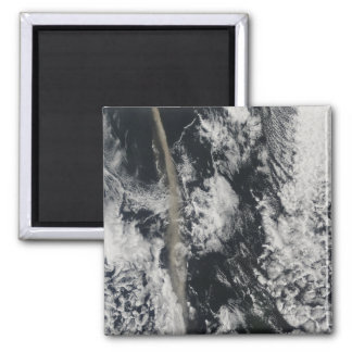 Satellite view of an ash plume 2 inch square magnet