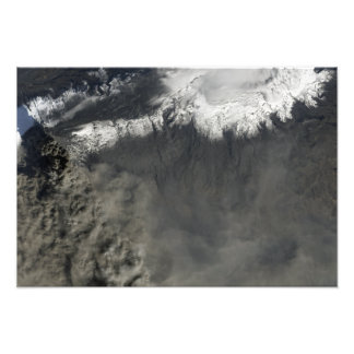 Satellite view of an ash plume 2 photo