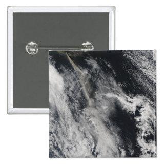Satellite view of an ash plume 2 pinback button