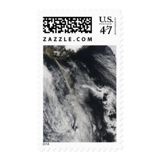 Satellite view of an ash plume 2 postage stamp