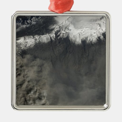 Satellite view of an ash plume 4 christmas tree ornaments