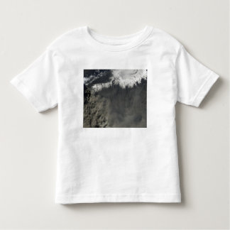 Satellite view of an ash plume 4 toddler t-shirt