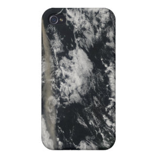 Satellite view of an ash plume case for iPhone 4
