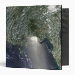 Satellite view of an oil spill 3 ring binder