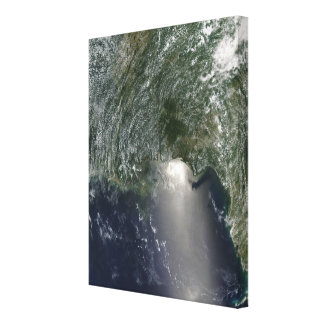 Satellite view of an oil spill canvas prints