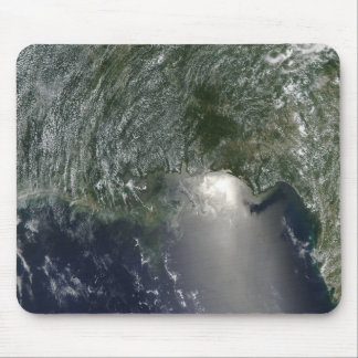 Satellite view of an oil spill mouse pad