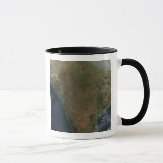 Satellite view of Central India Mug