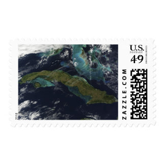 Satellite view of Cuba Postage