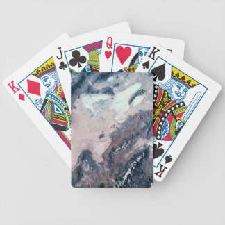 Satellite View of Earth Bicycle Playing Cards