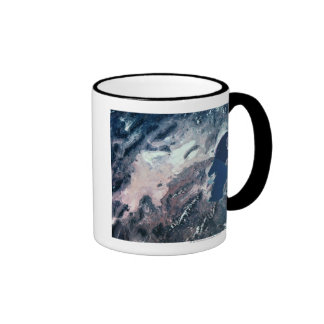 Satellite View of Earth Ringer Coffee Mug