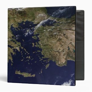 Satellite view of Greece and Turkey 3 Ring Binder