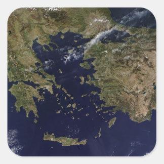 Satellite view of Greece and Turkey Sticker