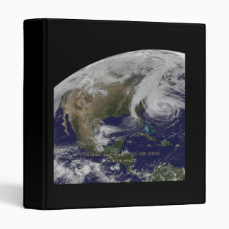 Satellite View of Hurricane Sandy 3 Ring Binder