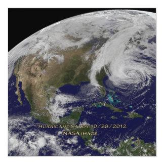 Satellite View of Hurricane Sandy Card