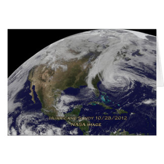 Satellite View of Hurricane Sandy Cards