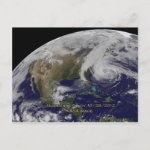 Satellite View of Hurricane Sandy Post Card