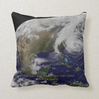 Satellite View of Hurricane Sandy Throw Pillow