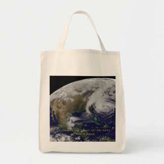Satellite View of Hurricane Sandy Tote Bag