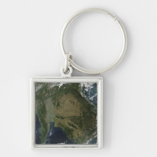 Satellite view of Indochina Keychain