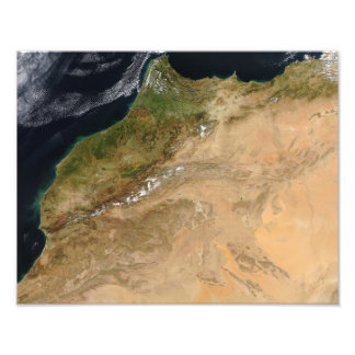 Satellite view of Morocco Photo Print
