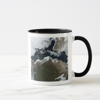 Satellite view of Northwest Canada Mug