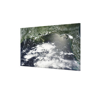 Satellite view of oil leaking 2 canvas prints