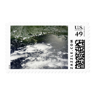 Satellite view of oil leaking 2 stamps