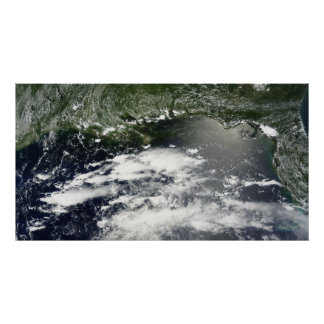 Satellite view of oil leaking 2 poster