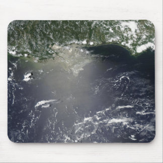 Satellite view of oil leaking mouse pad