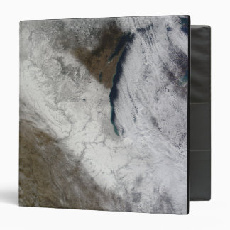 Satellite view of snow and cold vinyl binders