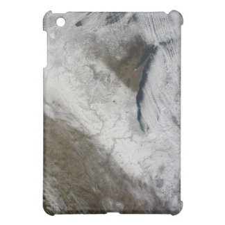 Satellite view of snow and cold iPad mini cover