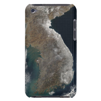 Satellite view of snowfall iPod touch case