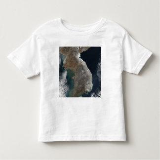 Satellite view of snowfall toddler t-shirt
