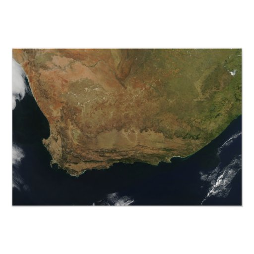 Satellite view of South Africa Photo
