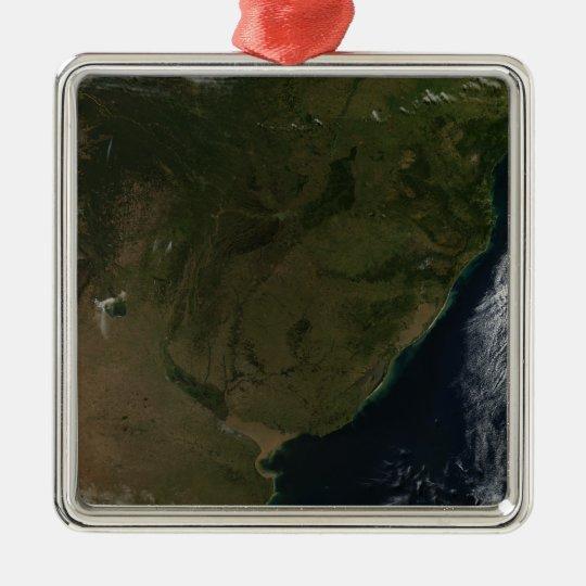 Satellite view of South America Metal Ornament