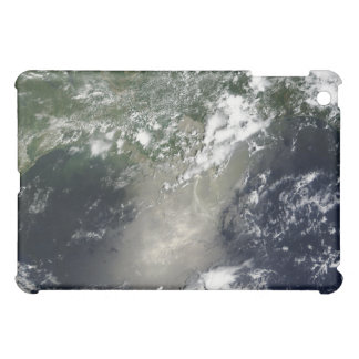 Satellite view of streaks and ribbons of oil iPad mini cover