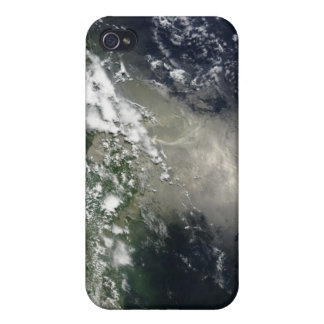 Satellite view of streaks and ribbons of oil case for iPhone 4