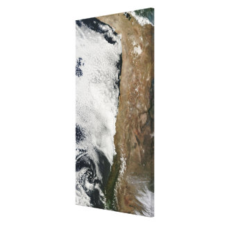 Satellite view of the Andes Mountains Canvas Print