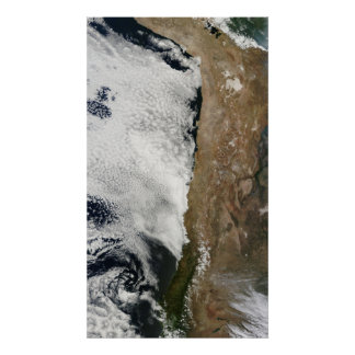 Satellite view of the Andes Mountains Posters
