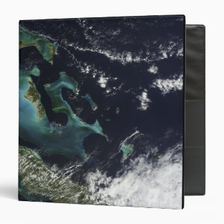 Satellite view of the Bahama Islands 3 Ring Binder
