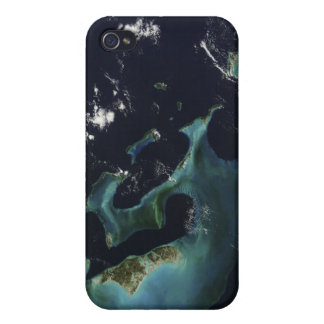 Satellite view of the Bahama Islands iPhone 4/4S Cases