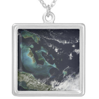 Satellite view of the Bahama Islands Square Pendant Necklace