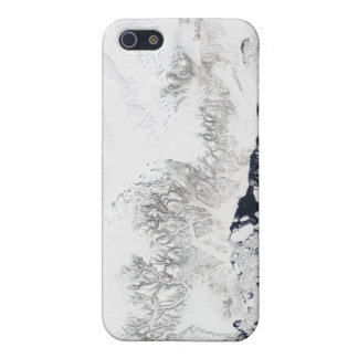 Satellite view of the eastern coast of Greenlan iPhone SE/5/5s Case