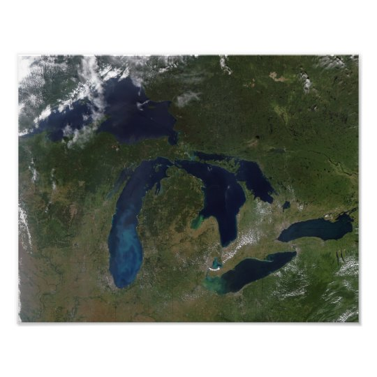 Satellite view of The Great Lakes Photo Print