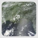 Satellite view of the Gulf of Mexico 2 Square Sticker