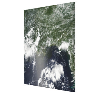 Satellite view of the Gulf of Mexico Gallery Wrap Canvas