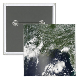 Satellite view of the Gulf of Mexico Pinback Button