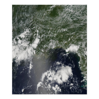 Satellite view of the Gulf of Mexico Poster