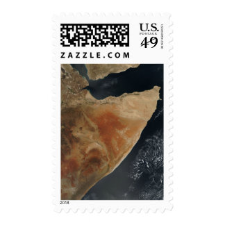Satellite view of the Horn of Africa Stamps